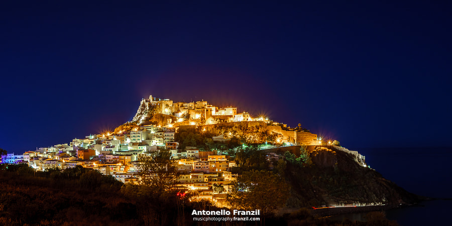 Castelsardo (Sardinia) by night by Antonello Franzil on 500px.com