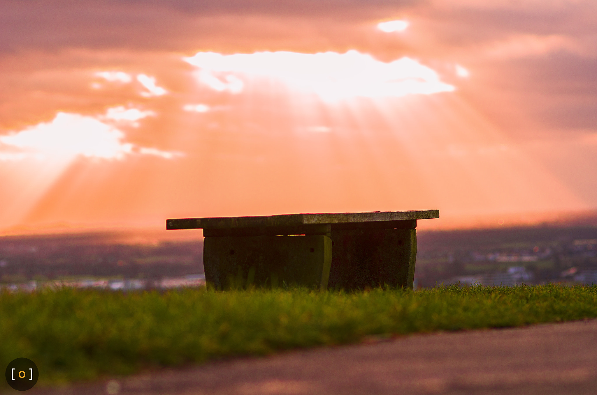 Photograph red bench by Timm Rehberg on 500px