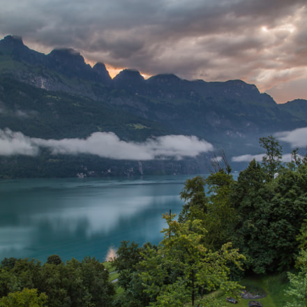 Sunrise at Walensee