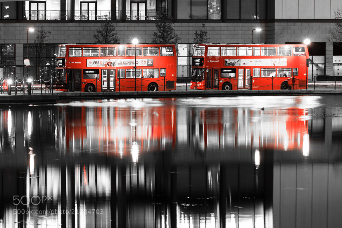 Photograph Red bus by Rim R on 500px