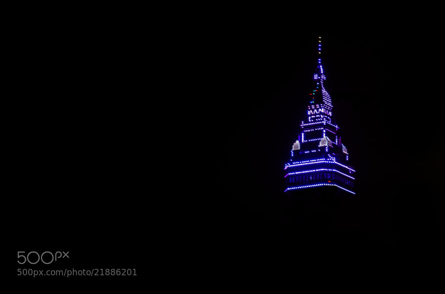 Blackpool tower illuminated for Christmas