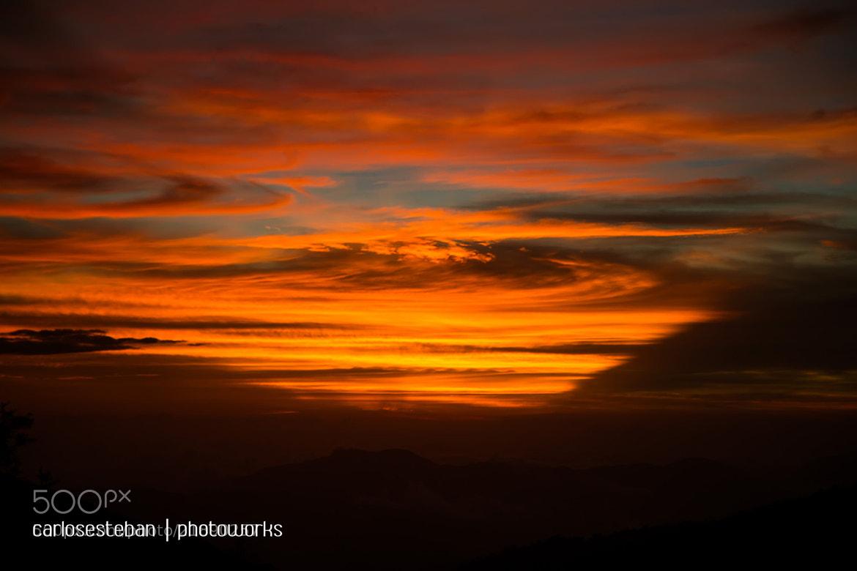 Photograph Watercolor Sunset by Carlos Esteban Solís Fallas on 500px