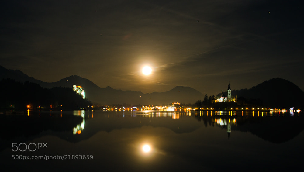 Photograph Bled at night by Matjaž Logar on 500px