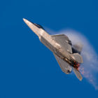 F-22A Raptor climbs in full afterburner