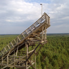 In Huittinen, Finland is this old wooden skijump hill.