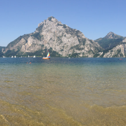Panorama of lake Traunsee, Upper Austria