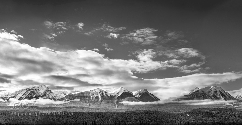 Photograph B&W Rockies Panoramic by Richard Gottardo on 500px