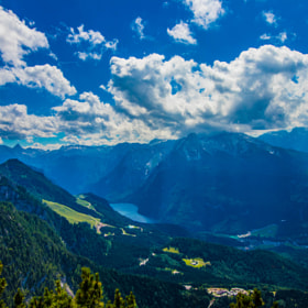 View on Königssee from Eagles Nest Berchtesgaden