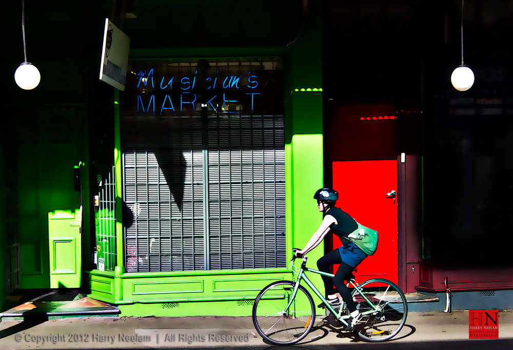 Photograph Girl on Bike - Red + Green Sydney by Harry Neelam on 500px