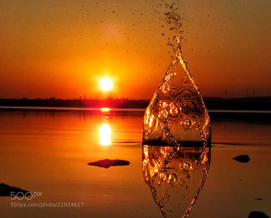 Photograph Sunset splash by Koullis Sofokleous on 500px