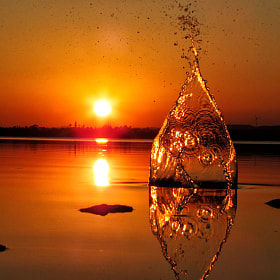 Sunset splash by Koullis Sofokleous (KoullisSof)) on 500px.com
