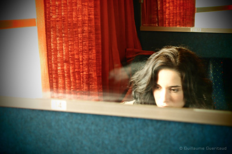 Photograph girl in the train by Guillaume GUERITAUD on 500px