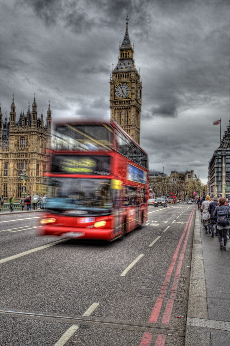 Photograph Route 159 over Westminster Bridge by Dean Bedding on 500px