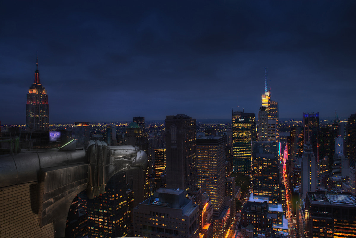 Photograph Gargoyle at Night in NYC by RC Concepcion on 500px