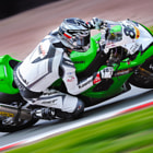 This image shows Julien Da Costa pushing his MSS Kawasaki to the limits of adhesion around Druids corner at Oulton Park racing circuit during a British Superbike round (a few years ago now!!). This motorcycle is going into the region of around 120 - 130 mph at this point in time. Panning can prove quite tricky at these speeds ;-) These Kawasaki's sounded awesome and is something I will never forget.