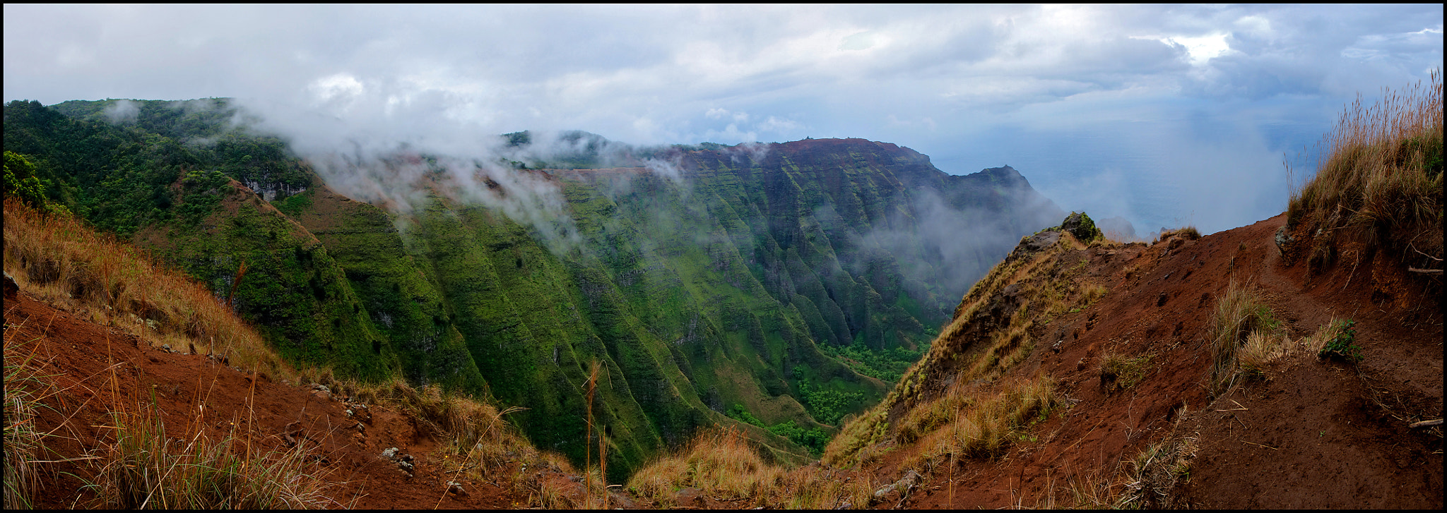 Photograph Awaawapuhi Trail Panoramic, Kauai by vovamir on 500px