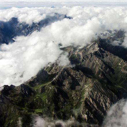 Aerial of Minshan mountain range