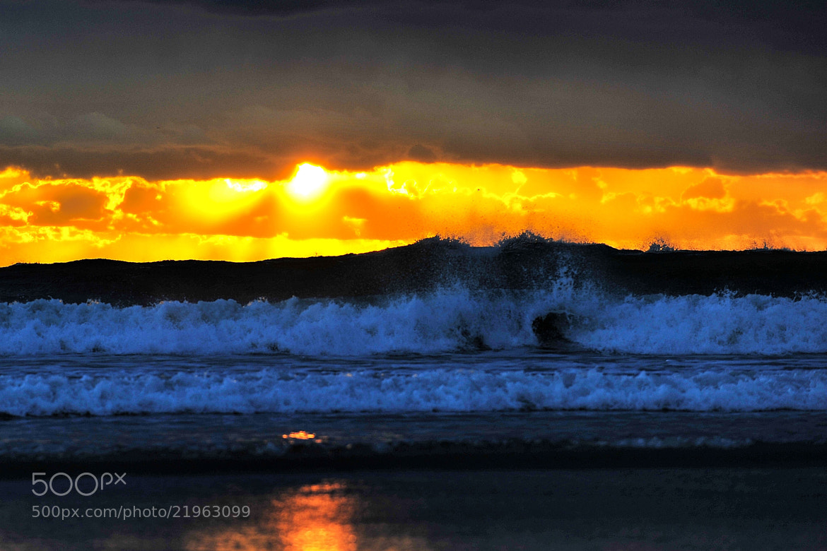 Photograph High Surf at Sunset in Oceanside - December 30, 2012 by Rich Cruse on 500px