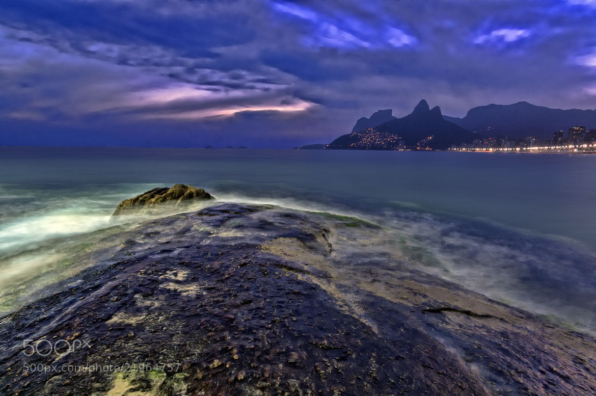 Photograph Arpoador in the Blue Hour by Daniel Schwabe on 500px
