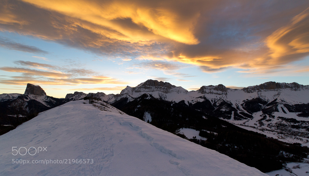 Photograph Winter Sunset by Nicolas Gailland on 500px