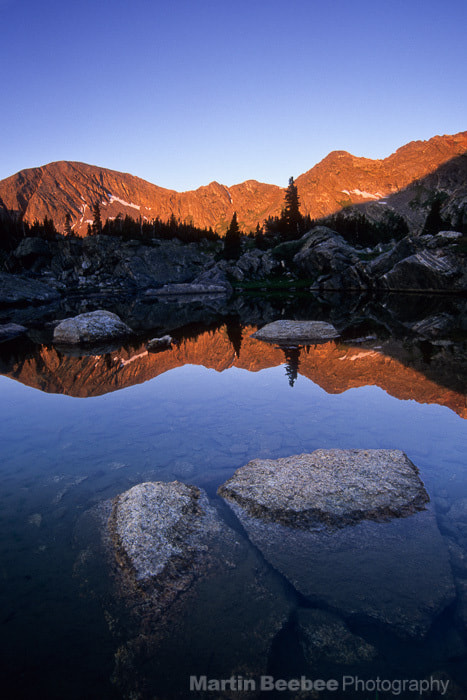 Photograph Morning alpenglow on mountains by Martin Beebee on 500px