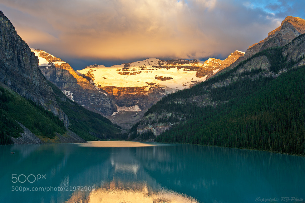 Photograph Morning Light on Lake Louise by Rudi Zhang on 500px