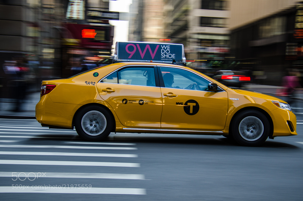 Photograph Speeding Cab in NYC by Cedric Jean-Marie on 500px