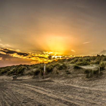 Sun set at Camber Sand Beach