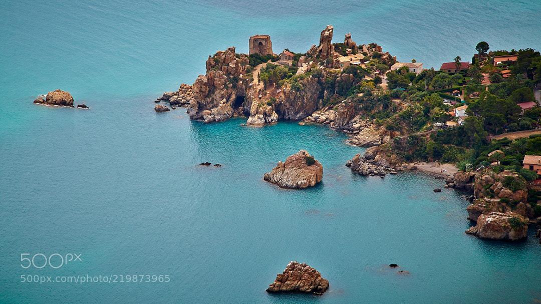 The coast of Sicily.