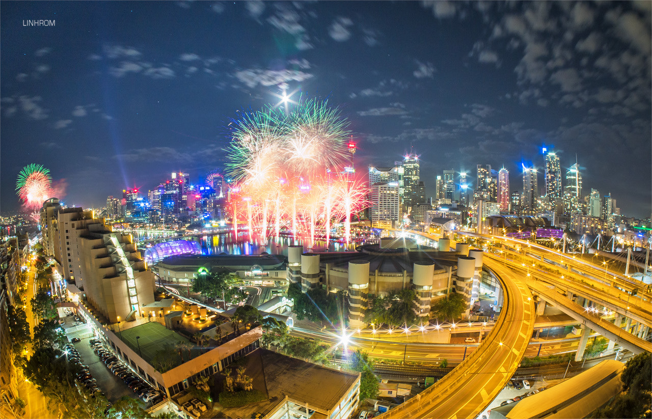 Photograph Sydney Darling Harbour New Year Fireworks 2013 by Linh Rom on 500px