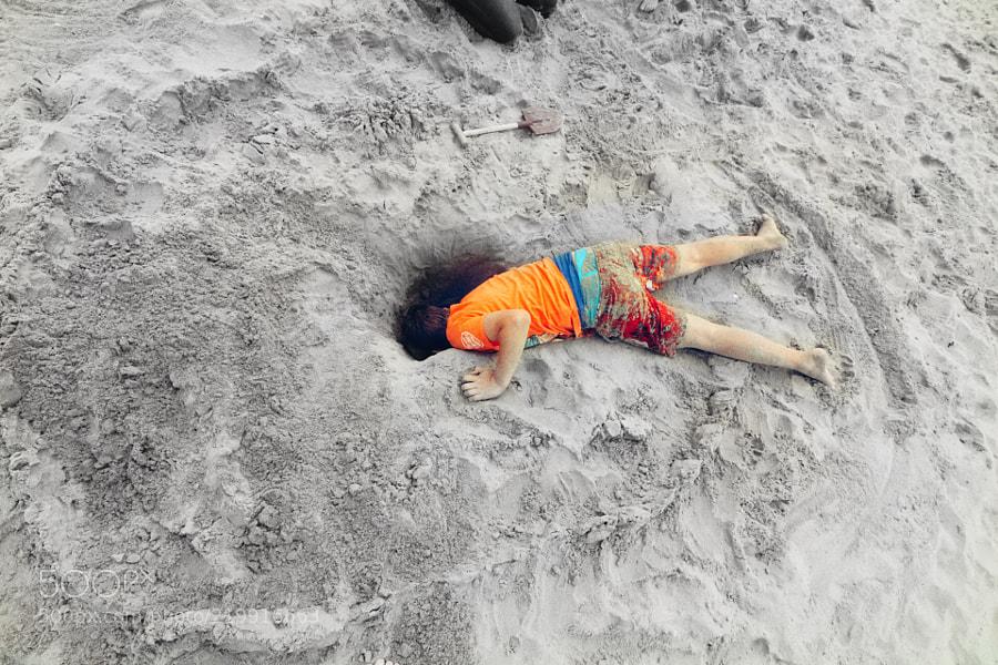 Losing my head at the beach