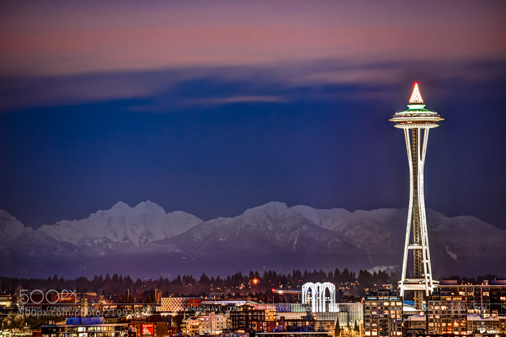 Photograph Space Needle and Cascades by Conor Musgrave on 500px