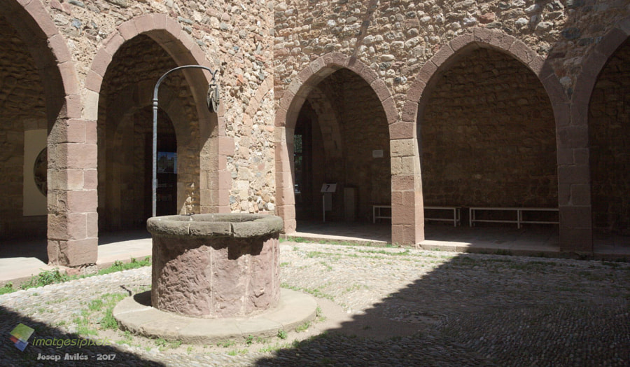 Pati del Castell Cartoixa de VallParadís