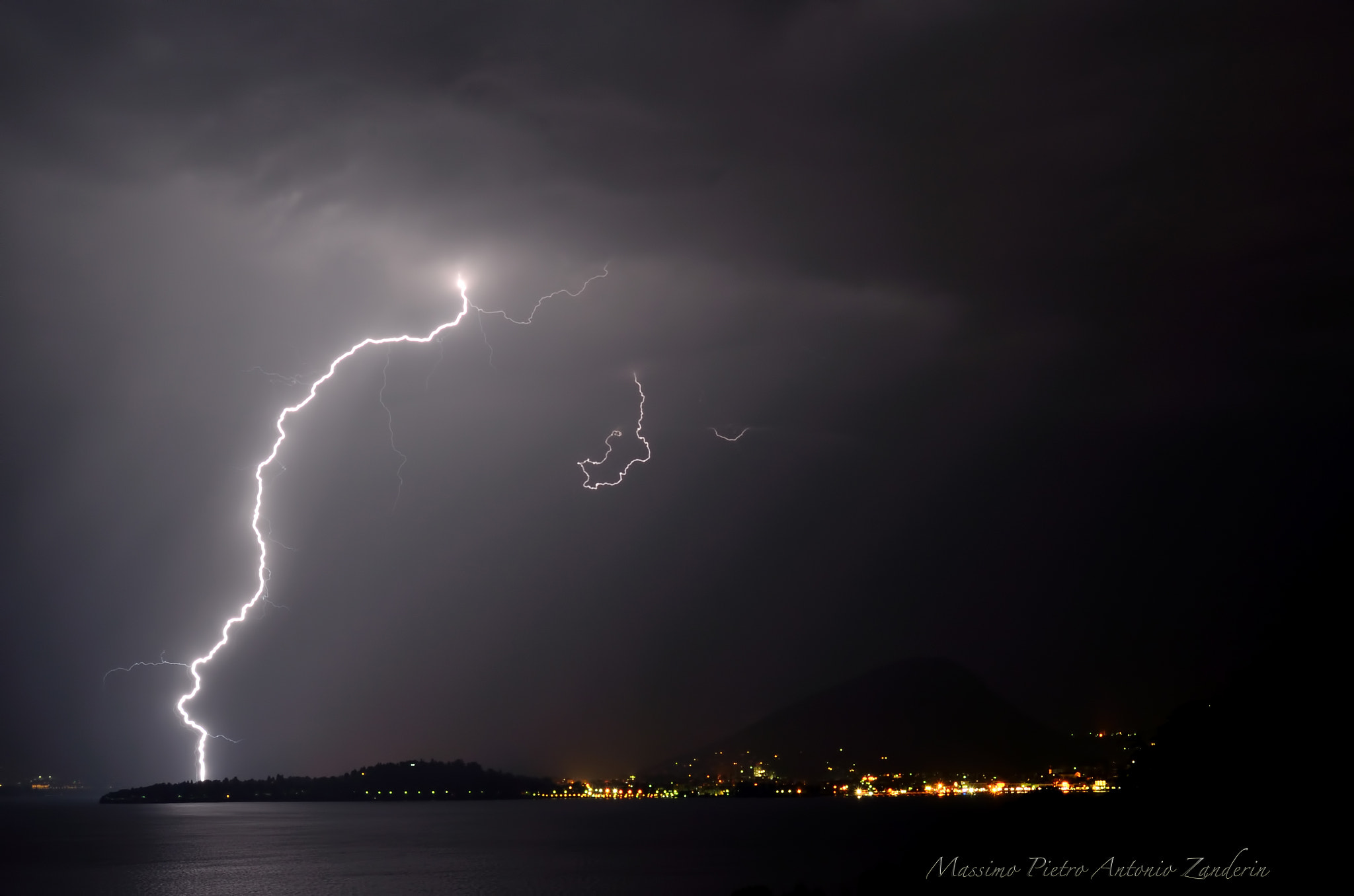Photograph Lightning over the lake by Massimo Pietro Antonio Zanderin on 500px