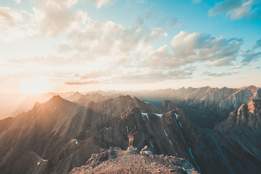 Golden hour on the mountain by Andrius Šešelgis on 500px.com