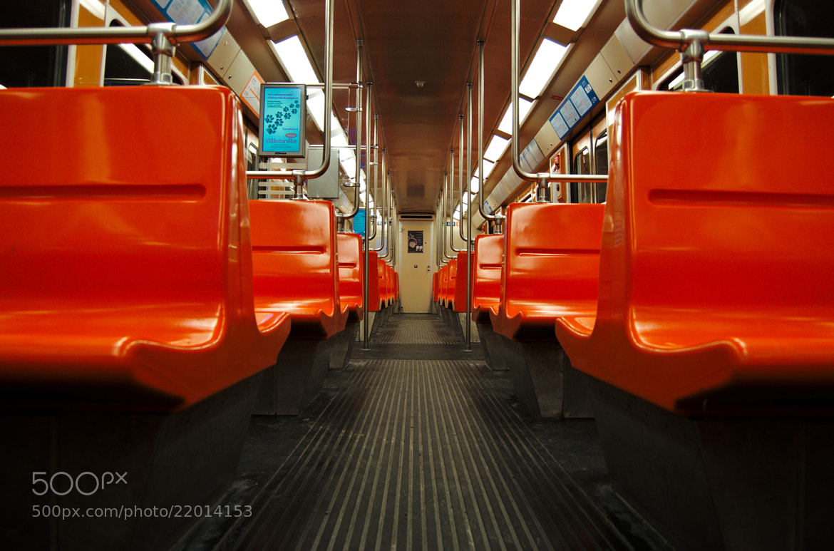 Photograph Empty metro car by J K on 500px