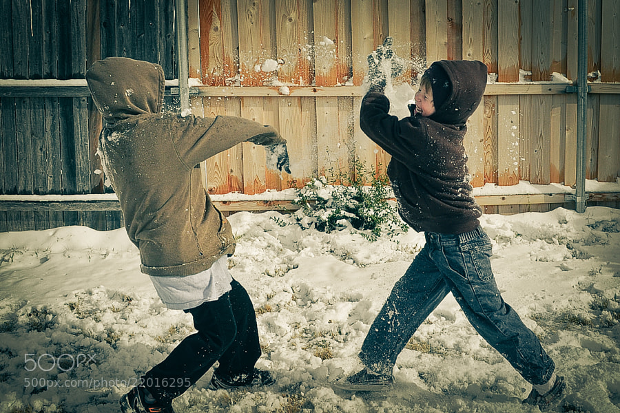 Photograph Snowball Fight by Joe Andrews on 500px