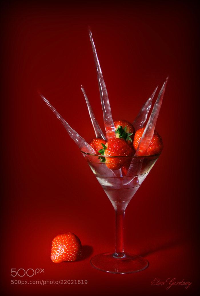 Photograph Strawberries on ice or Christmas dessert. by Elen Gardzey on 500px