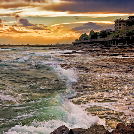 Sunset Waves In Caloundra