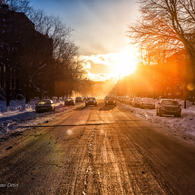 Winter sunset by Alexandre Trudeau-Dion (DiscardedPhotography)) on 500px.com