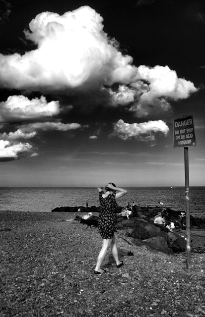 Photograph Lady on Beach by Des Byrne on 500px
