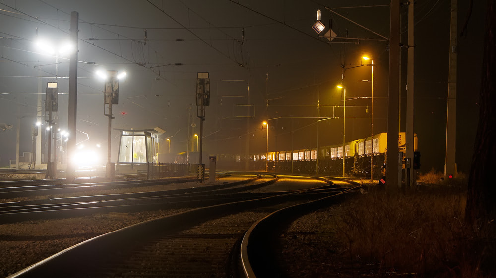 Photograph train station at night by Manfred Huszar on 500px