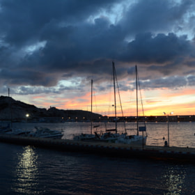 Marseille - Sunset on Port du Frioul