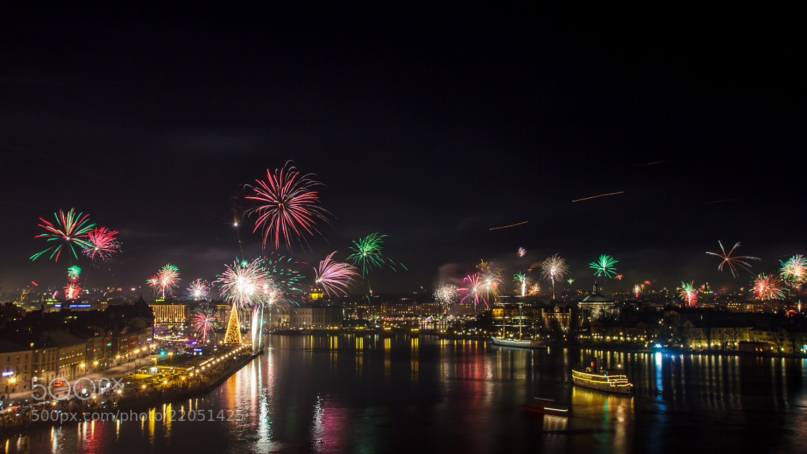 Photograph Fireworks over Stockholm by Dan Pascu on 500px