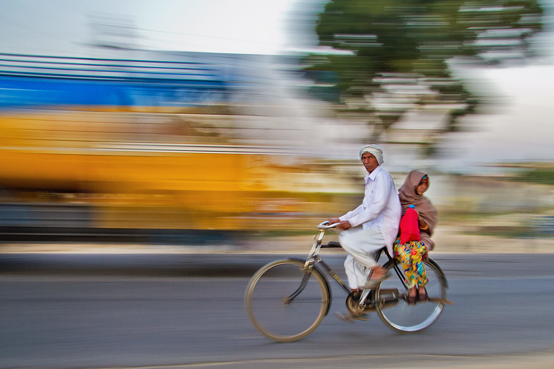 Photograph Biking Home - India in Motion - Jaipur - India by Sandy Gennrich on 500px