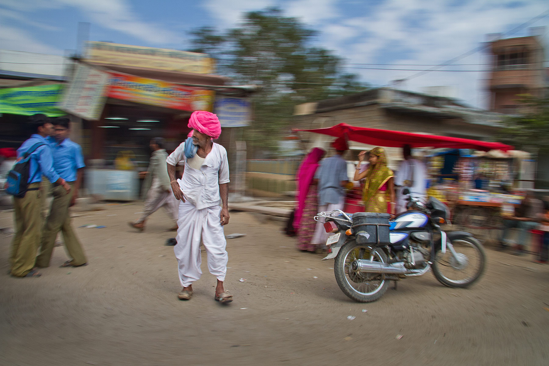 Photograph Man with Pink Turban - India in Motion - Rural Rajastan - India by Sandy Gennrich on 500px