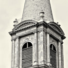 Empty church steeple