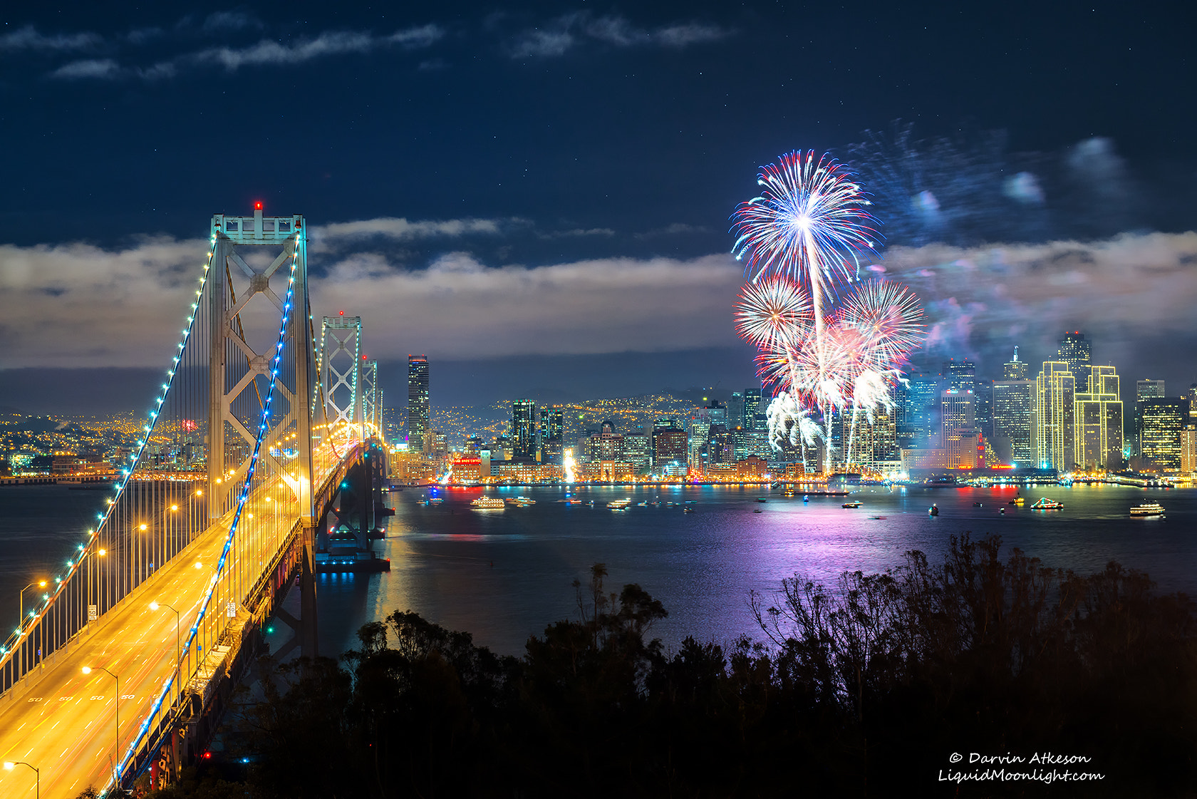 Photograph San Francisco Fireworks for New Years 2013  by Darvin Atkeson on 500px