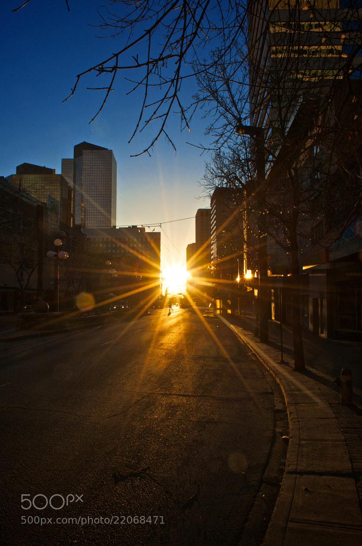 Photograph Sunrise over Jasper Ave by Noah Aboussafy on 500px