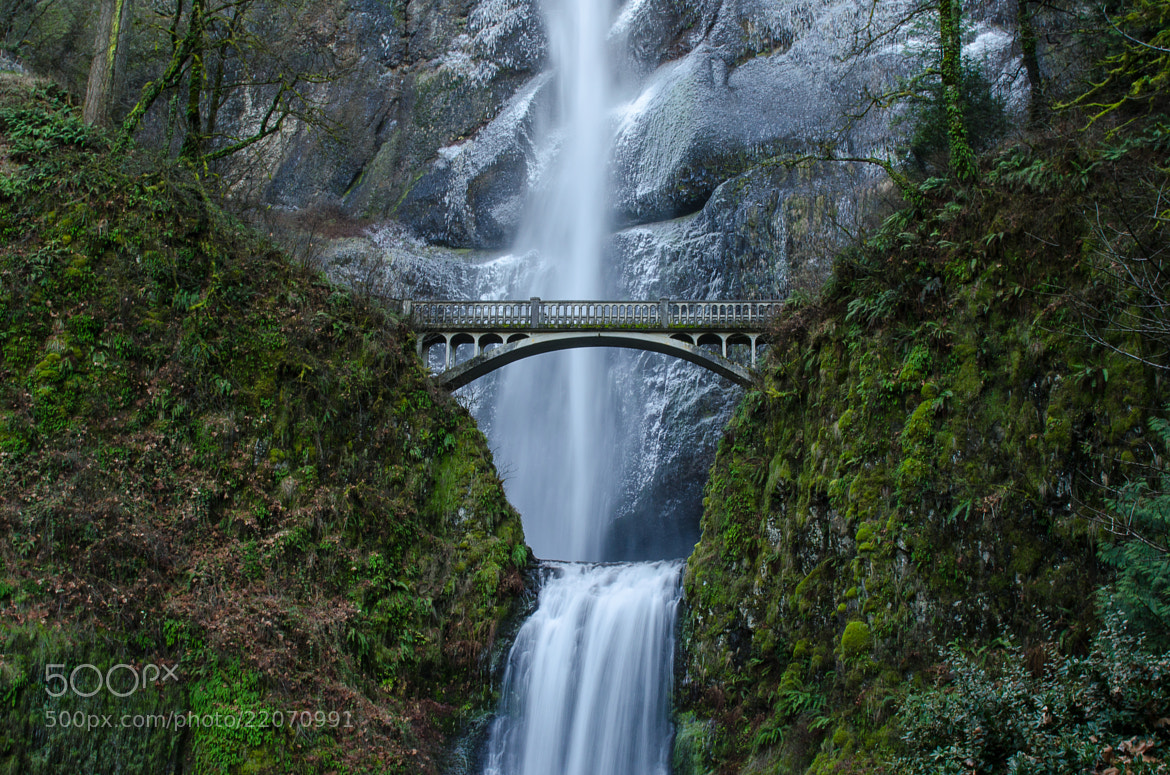 Photograph Multnomah Falls in Winter by Thomas Duffy on 500px